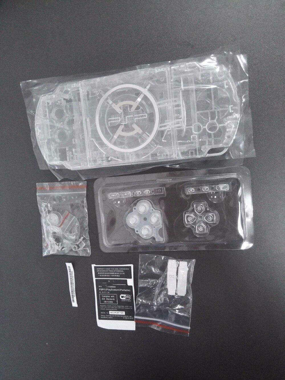Crystal Clear Cor conjunto Completo Shell Habitação Caso Capa de Reposição para PSP3000 PSP 3000 Console Do Jogo com o kit de Botões