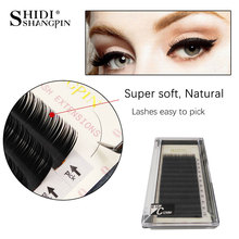 SHIDISHANGPIN 12 Rows mink eyelashes  extension lashes individual eyelash B C D Curl 8-12mm mink natural lashes maquiagem cilios