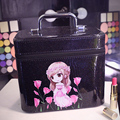 2017 Trunk Beauty Pattern Cosmetic Bag Good quality PU Big Size Women Make UP Bag pochette maquillage Free Shipping