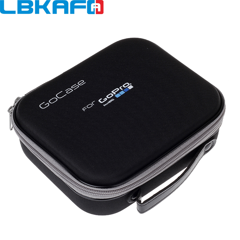 LBKAFA para Gopro accesorios tamaño mediano Eva duro caja de bolsa para ir Pro héroe 7 6 5 4 3 + SJCAM SJ4000 SJ6 SJ7 SJ5000 Eken YI