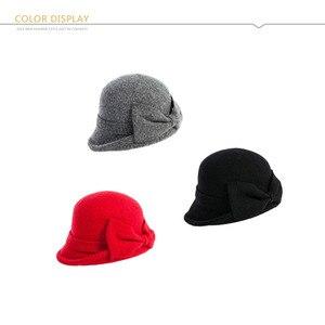 Image 5 - Fancet chapeau en feutre béret pour femmes, bonnet avec bol en laine, Bonia, Vintage, mode, automne 1920s, 16209