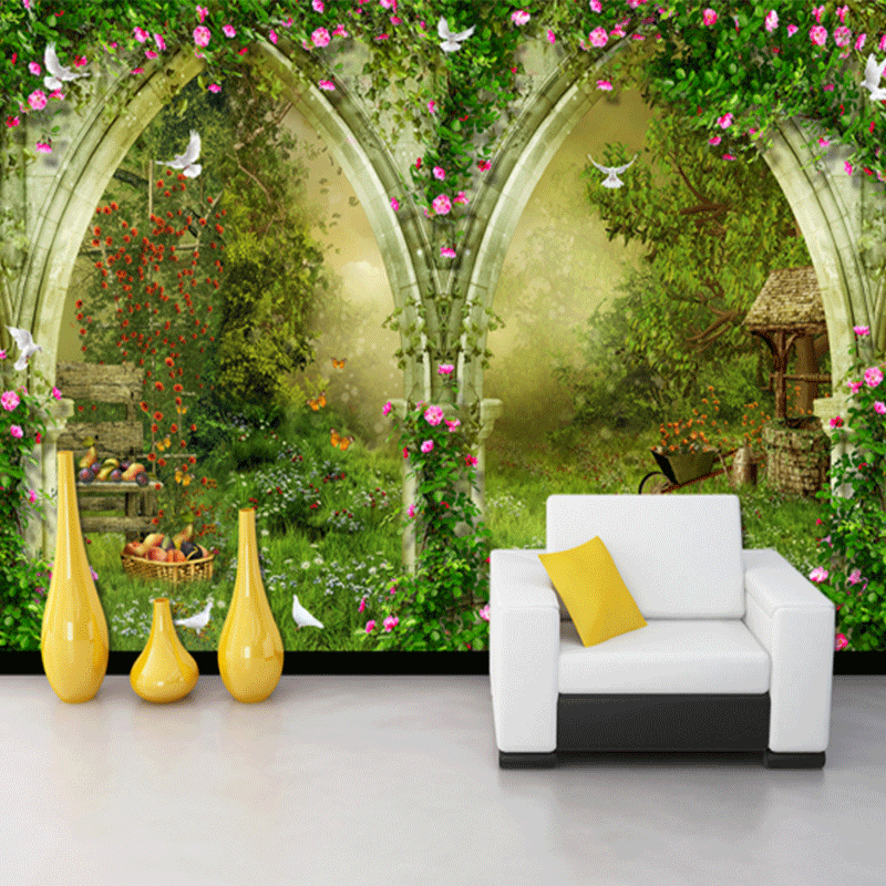 Custom Photo Wallpaper Mural Wall Sticker Rose Flower Vine TV Background Wall Cafe Pastoral Casual Style 3d wallpaper for room 10m victorian country style 3d flower wallpaper background for kids room mural rolls wallpapers for livingroom wall paper decal