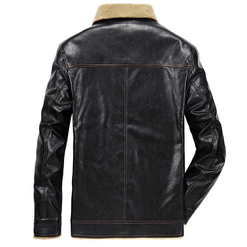 男性の革のジャケット PU コート 2019 冬メンズブランド服熱上着冬の毛皮の男性フリースジャケットドロップシッピング