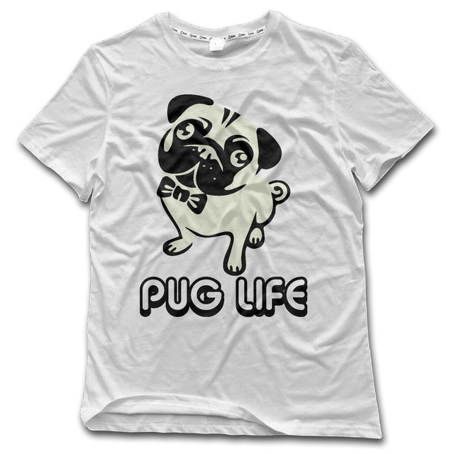 5f7aa68de5f CHI T-Shirt Men Pug Life Funny Humor 100% Cotton Rock funny Mens Shirt  fashion New Style tee 2017