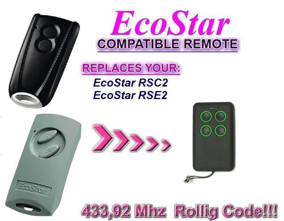 Ecostar RSC2 RSE 2  rolling code 433.92mhz duplicator  garage door remote control Free ShippingEcostar RSC2 RSE 2  rolling code 433.92mhz duplicator  garage door remote control Free Shipping