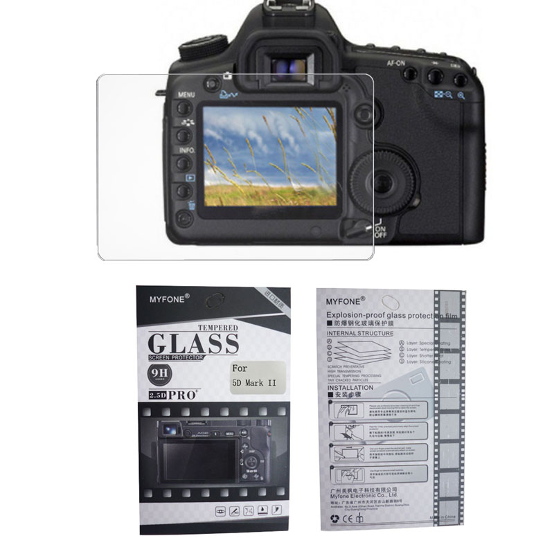 GGS 5th Glass Screen Protector and Sunshade Hood for Canon 5D mark III 5D3 5Dsr 5Ds