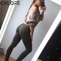 CALOFE Womens Sport Pants Sexy Push Up Gym Sport Leggings Women Running Tights Skinny Joggers Pants