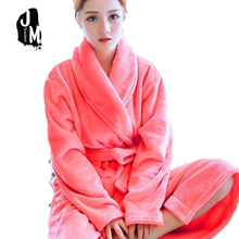 New Women Robe Bathrobes Sleepwear Female Autumn Flannel Lounge Thickening Coral Fleece Long-sleeve Nightgrown Nightdress