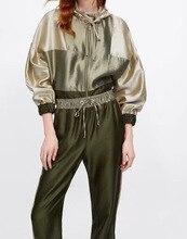 2019 Spring Dress Women Set Trousers Leisure Sports Suits 2 Piece Sets Outfits Zipper Elastic Waist