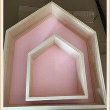 INS в скандинавском стиле, деревянные полки для детской комнаты, деревянные полки для дома, настенные украшения, украшение для дома