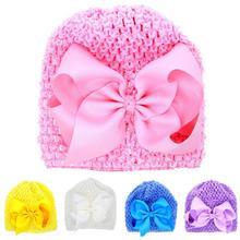 20f4ef1c5 Sombreros de bebé con orejas de recién nacido Niño gorro de punto bebé niña  Bowknot hueco