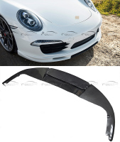 911 Splitter Car Styling V Style Carbon Fiber Front Lip Bumper Protector for Porsche 911 2012 2013