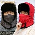 Women Men Winter Fur Hat Outdoor Windproof Thick Warm Winter Hat Neck Bib Face Mask Women's Men's Cycling Hat Earflap Ski Cap
