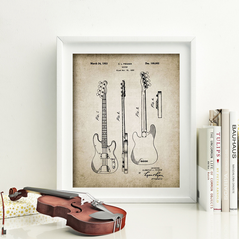 Electric Guitar Canvas Painting Home Decoration