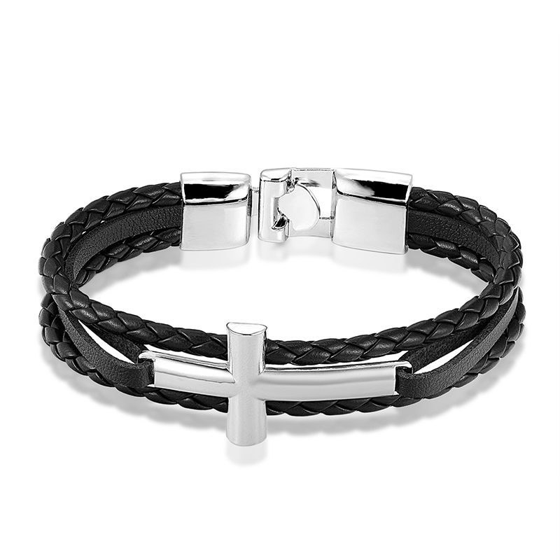 Купить новый брендовый мужской браслет janeyacy 2018 модный кожаный