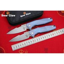 BEAR CLAW ST006 Original S35VN blade Titanium Handle Flipper folding knife Outdoor Camping EDC tool Hunting Hiking pocket knives