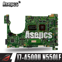 Asepcs Laptop Motherboard For ASUS Q550LF N550LF PC PN 60NB0230 MBB000 N550LF MAIN BOARD CPU i7 4500U CPU DDR3 100% Fully Tested