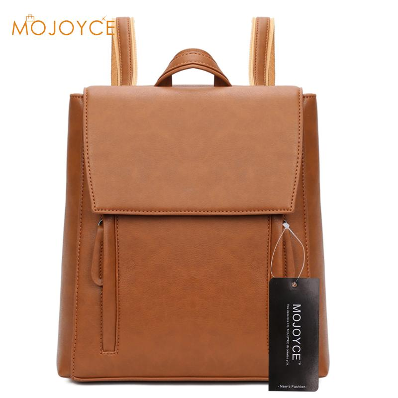 PU Leather Backpacks For Teenage Girls Simple Style Women Bag School Bags mochilas mujer 2017 mochila masculina sac a dos Rugza