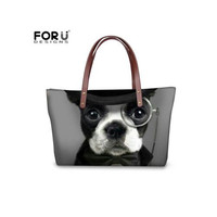 FORUDESIGNS French Bulldog/Shunsuke Dogs Women's Shoulder Bags Printed Ladies Handbags Summer Beach Waterproof Hand Bags Bolsa