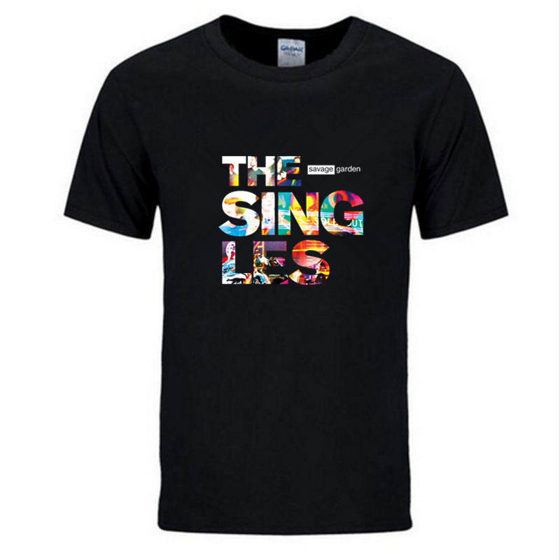 T-shirts Men's Clothing New Casual Savage Garden Printing T-shirt Brand Clothing Hip Hop Letter Print Men T Shirt Short Sleeve Anime High Quality Tees At Any Cost