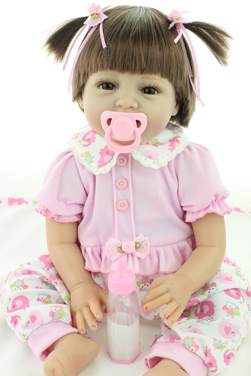 Happy Doll Baby Girl Lifelike Toys for Children Reborn dolls Playing toy Soft Touch 55 centimeters Fashion happy dollhouse family dolls small wooden toy set figures dressed characters children kids playing doll gift kids pretend toys