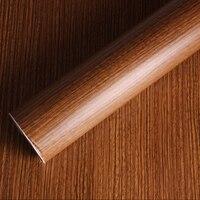 Self Adhesive Vinyl Wood Grain Textured Car Wrap Car Internal Stickers Wallpaper Furniture Wood Grain Paper