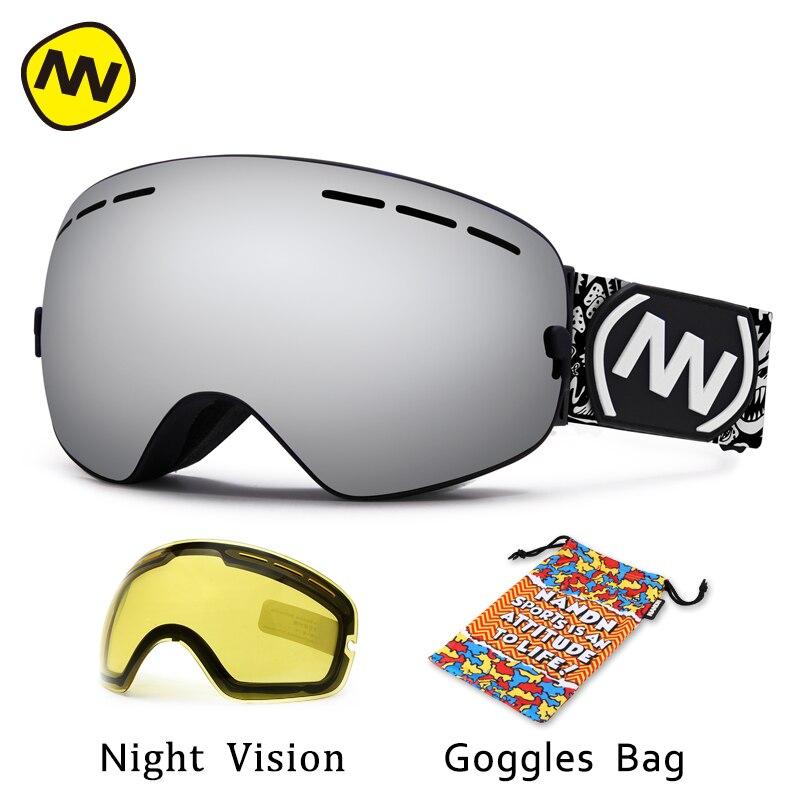 NANDN бренд лыжные очки анти-туман очки uv400 большой лыжная маска очки лыжи мужчины женщины снег очки сноуборд