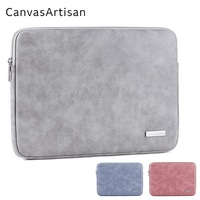 2018 New Brand PU Leather Bag For Laptop 13 14 15 15 6 Sleeve Case For