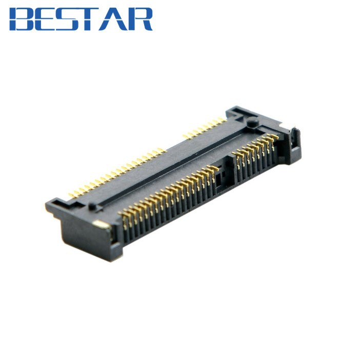 Acheter E Mini E Pci Express Pcie Msata 52pin 40mm Hauteur Prise Adaptateur De Connecteur De Prise Femelle Enfichables Smt Pour Ssd De 552 Du
