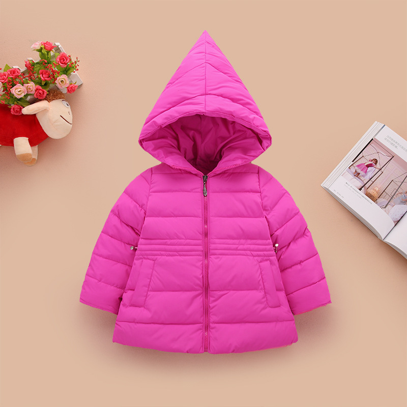 Baby Medium coat children Winter clothing Christmas hat Loose Fashion down jacket Boy & Girl winter