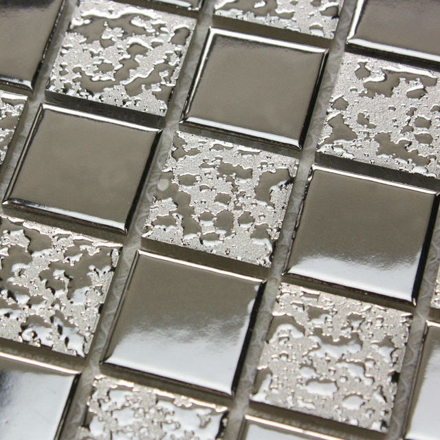 Porcelain Floor Tile Sheets Plating Slip Mosaic Art Bathroom Wall Mirror Tiles Backsplash Sticker Kitchen Design