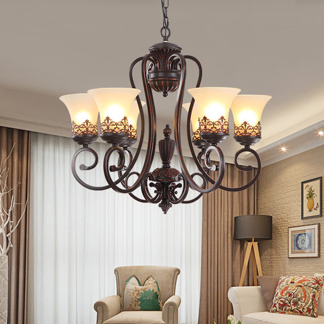 dining room chandelier lighting. Simple Lighting 3568 Arms Retro Chandelier Lightingglass Lampshade Wrought Iron  Livingdining Roombedroom Hanging Intended Dining Room Chandelier Lighting T
