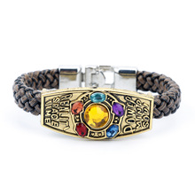 Fashion Jewelry Avengers Endgame Infinity Bracelet For Women Men Thanos Power Gem Bangle Cosplay Xmas Gift
