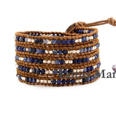 Pardew particle sodalite sterling silver beads mix match 5 wrap self-shade bracelet футболка dc artifunction sodalite blue
