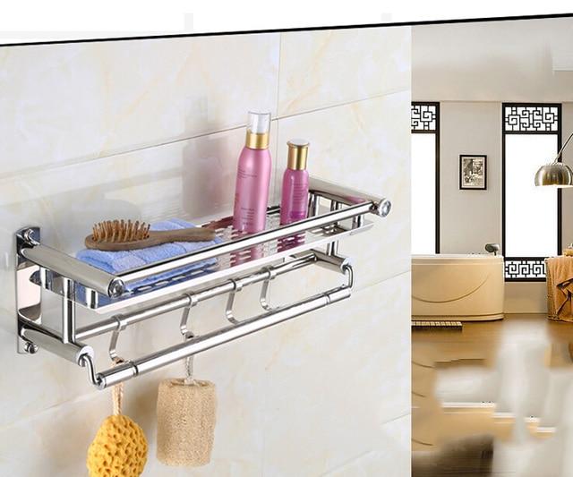 YONTREE 1 PC Stainless Steel Towel Rack Bathroom Storage Shelves ...