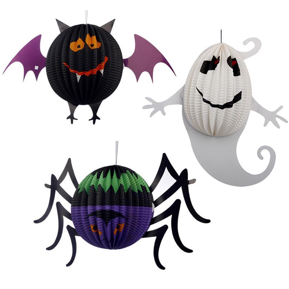 halloween horror tricky decorative props supplies furnished paper lanterns halloween bar decoration halloween decors w5