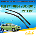 "Escovas Para VW VOLKSWAGEN POLO MK5 (2005-2010) 06 2007 2008 2009 Car Windscreen Windshield Wiper Blade 21 ""+ 19"" carros estilo"