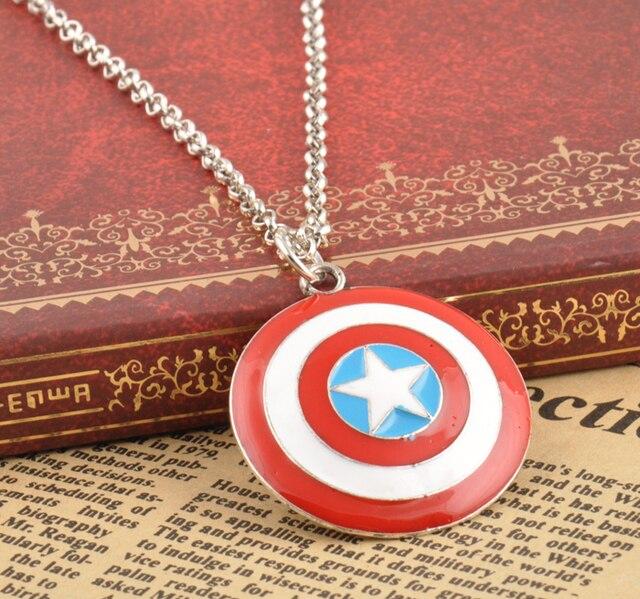 Новый фильм Капитан Америка Ожерелье Супергерой Vintage щит кулон логотип изделия звезды Шарм Подвеска мужчин подарки