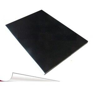 Image 1 - 50 גיליונות 21*29.7 cm A4 גודל מט שחור צבע PVC עצמי דבק מדבקה ריקה תווית נייר הדפסה לייזר מדפסת