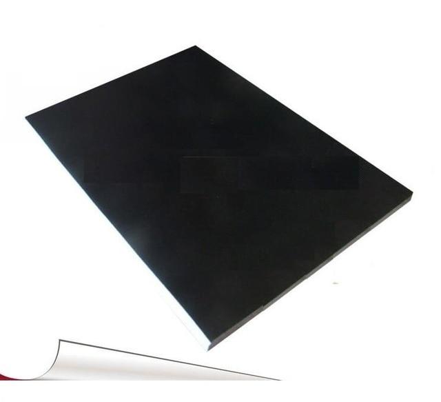 50 גיליונות 21*29.7 cm A4 גודל מט שחור צבע PVC עצמי דבק מדבקה ריקה תווית נייר הדפסה לייזר מדפסת