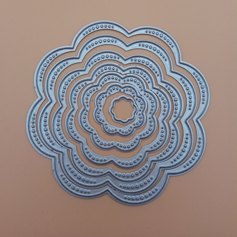 7Pcs//Set Flower Circles Metal Cutting Dies Stencils DIY Scrapbook Embossing Hot