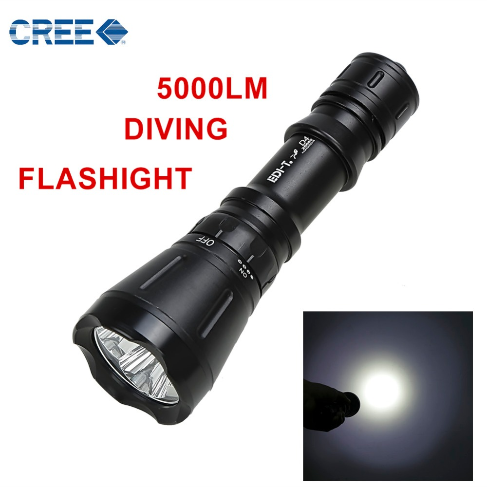 Anjoet Scuba Diving Flashlight Light Dive Torch Powerful 3 LED XM-T6 Underwater Waterproof Diving Lamp lanterna 18650/26650 newest underwater scuba diving light 14000 lumen led torch cree 7 x xm l2 waterproof flashlight light for dive 26650 lanterna