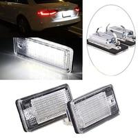 2PCS Car 18 LED Error Free License Plate Light Lamp For Audi A3 A4 B6 B7