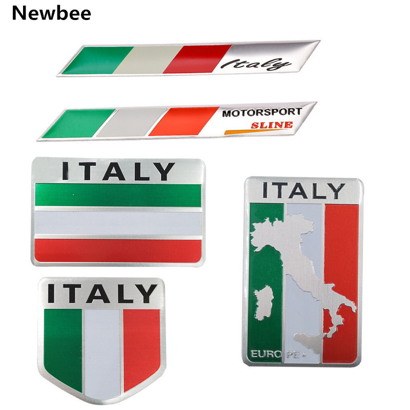6x Sticker for ALFA ROMEO Emblem Badge Decal Car Styling Logo 156 159 147 6pcs