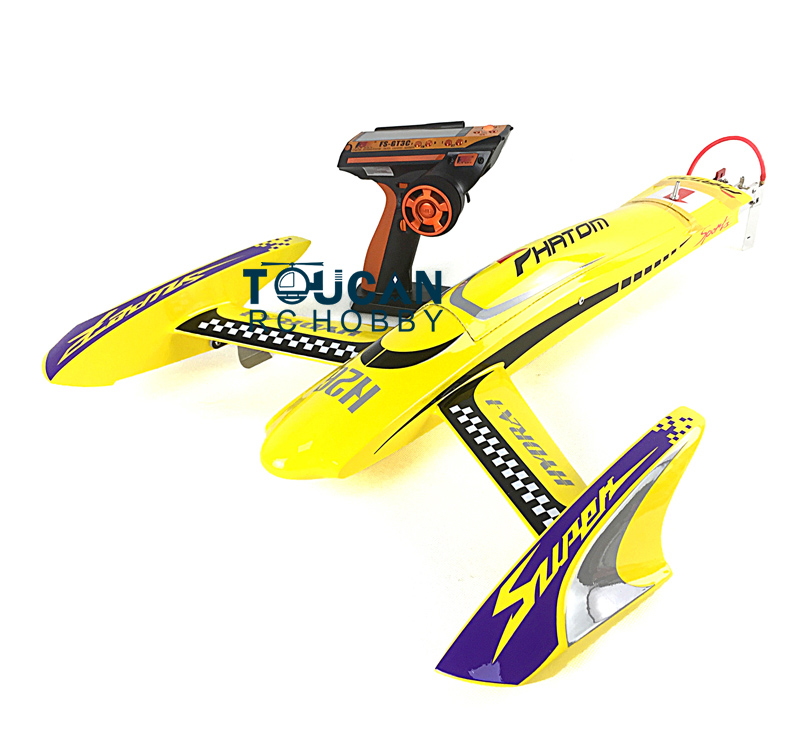 H660 RTR Kevlar Electric RC Boat 100KM/H RadioSys Battery Brushless Motor Yellow