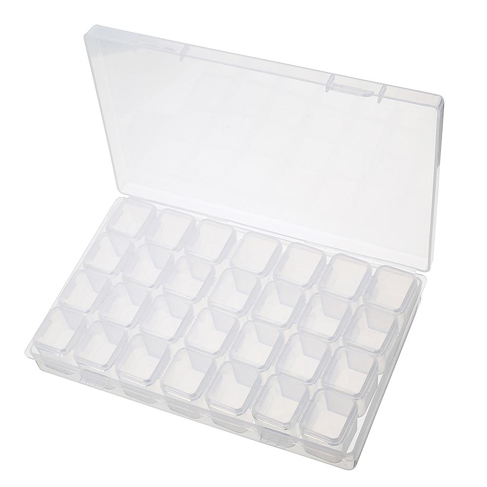 घर स्लॉट बॉक्स के लिए 28 स्लॉट्स एडजस्टेबल क्लियर प्लास्टिक स्टोरेज बॉक्स केस ज्वैलरी मेकअप बीड ऑर्गनाइज़र