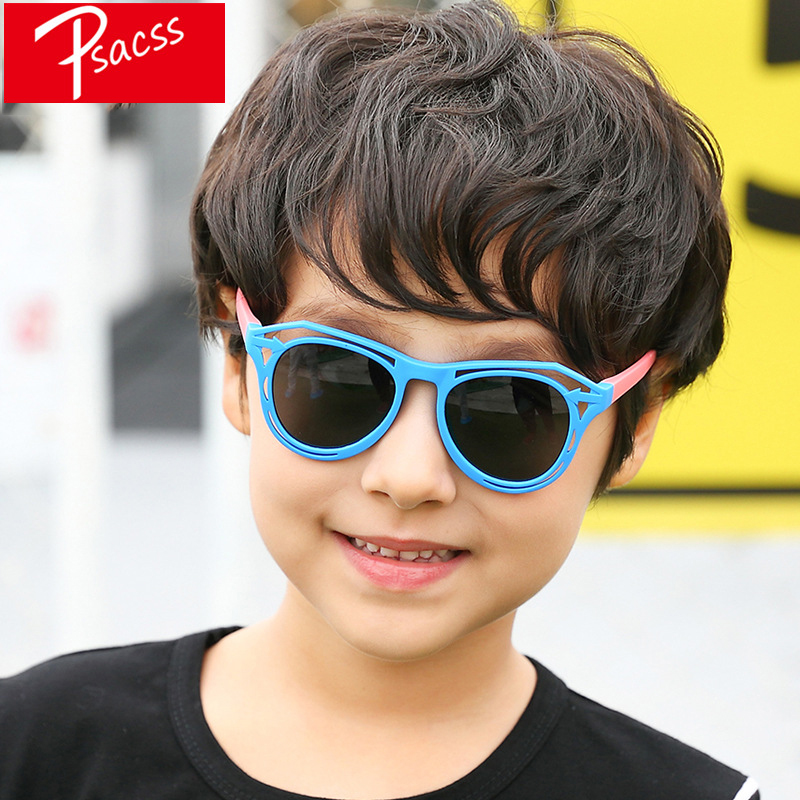 Psacss NEW Polarized Kids Sunglasses Boys Girls Vintage Silicone Frame Sun Glasses Children 39 s Retro Eyewear UV400 Gafas Infantil in Sunglasses from Mother amp Kids