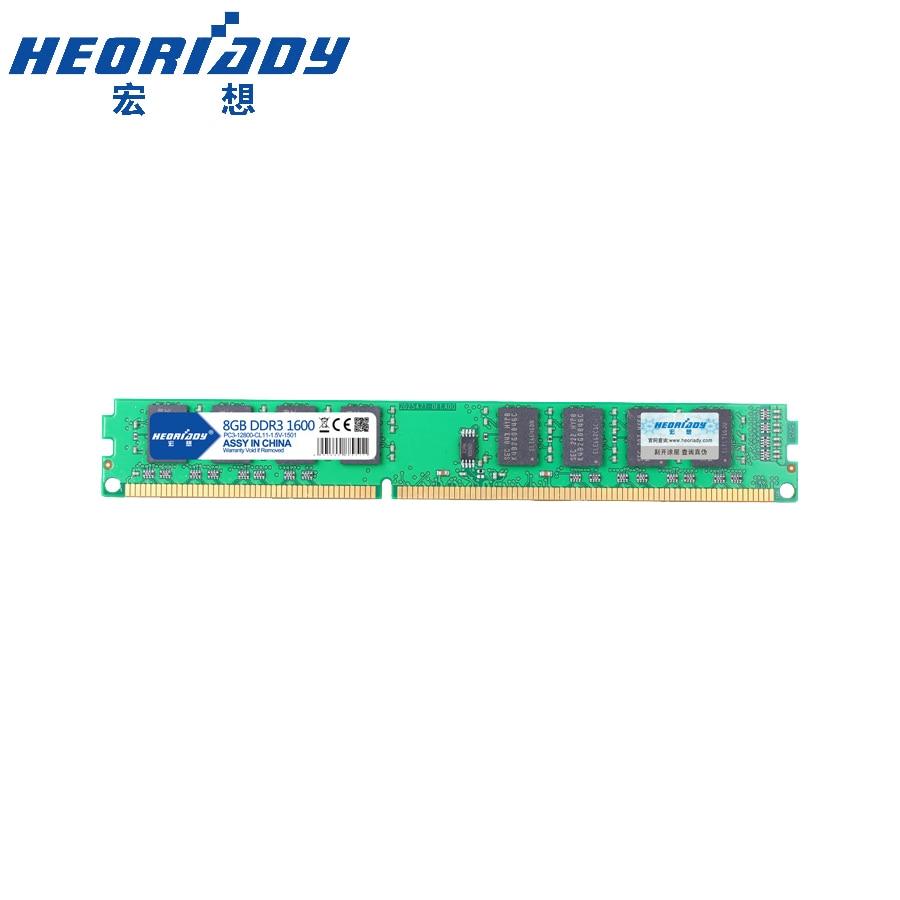 HEORIADY ddr3 8 gb ram 1600 pc gamer carte mère PC3-12800 240pin 1.5 v sdram