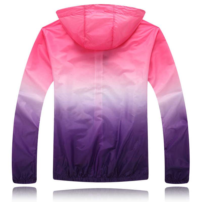 נאהבי שמש מגן בגדי אביב ובקיץ בחוץ ארוך שרוול UV דק מעיל יוניסקס נשים גברים בנות