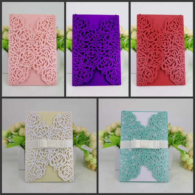 10pcs luxury laser cut wedding invitations cards envelope vintage 10pcs luxury laser cut wedding invitations cards envelope vintage elegant birthday greeting card kits event party m4hsunfo